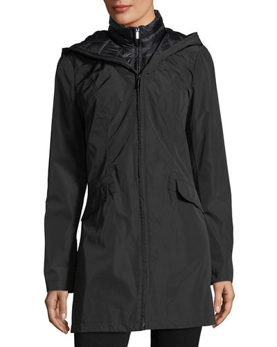 Layered Wind-Resistant Jacket W/ Corset Back