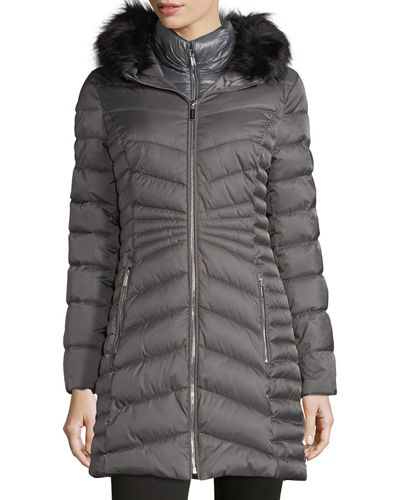 Mid-Weight Faux-Fur Puffer Coat