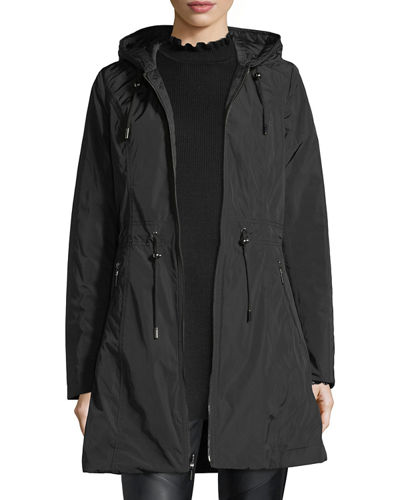 Reversible Hooded Quilted Rain Coat