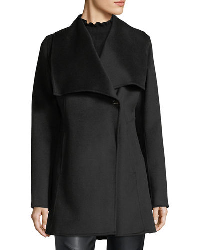 Shawl-Collar Wool-Blend Coat