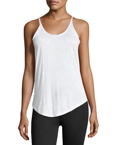 Scoop-Neck Slub Basic Camisole