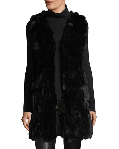 Long Rabbit Fur Vest