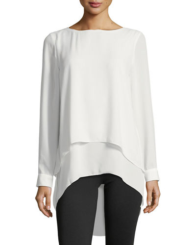 Long-Sleeve Layered Blouse