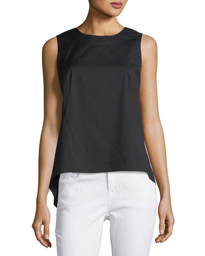Malina Sleeveless Pleated-Back Blouse