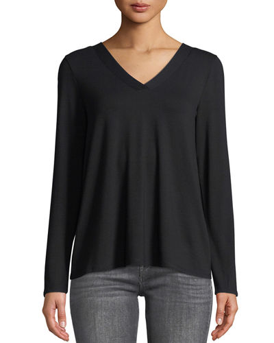 Ladder-Sleeve V-Neck Tee