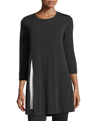Colorblock Three-Quarter Sleeve Dress