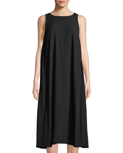 Long Cutaway Sleeveless Tank Dress
