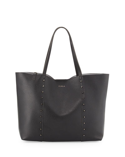 Elle Rock Medium Studded Leather Tote Bag