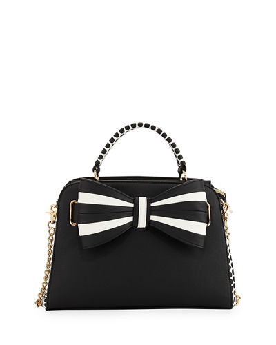 1 2 3 Bow Satchel Bag