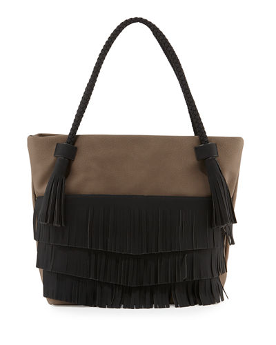 Ryver Faux-Leather Fringe Tote Bag