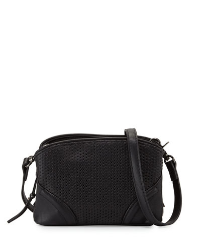 Brett Perforated Faux Leather Crossbody Bag