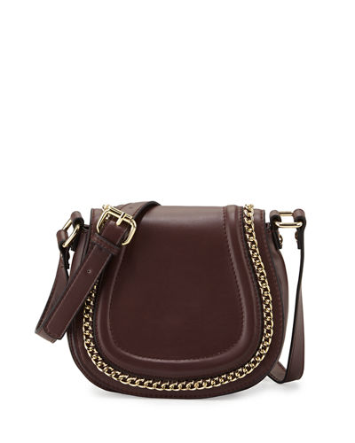 Alexa Chain-Trim Saddle Bag