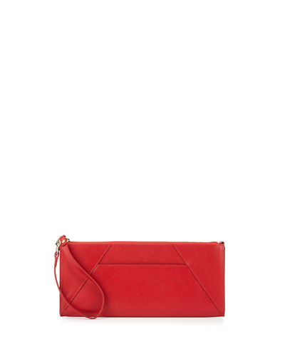 Leather Travel Clutch Bag