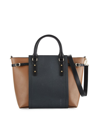 Valeria Colorblock Stingray Tote Bag