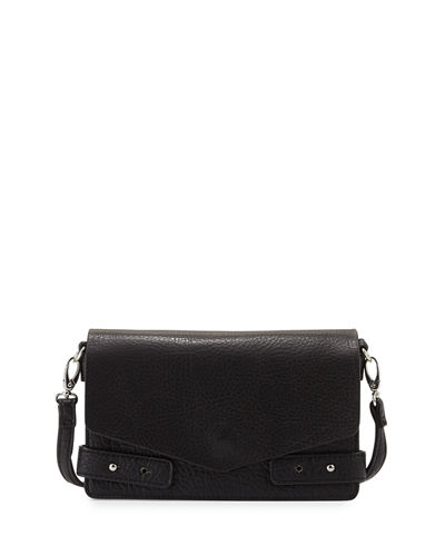 Cargo Pebbled Faux-Leather Crossbody Bag