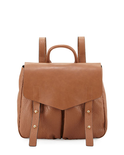 Cargo Pebbled Faux-Leather Backpack