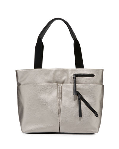 Utility Zip Leather Tote Bag