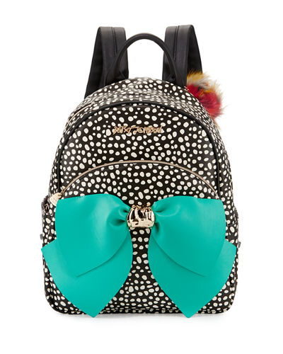 Bow Faux-Leather Backpack