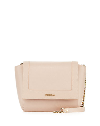 Ginevra Mini Flap Leather Crossbody Bag