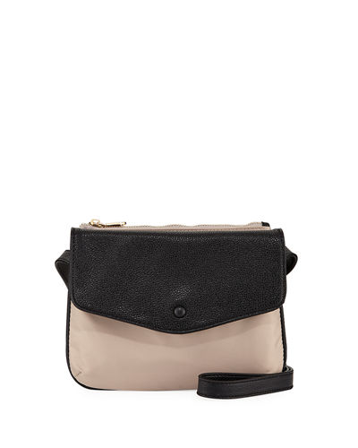 Marni Fold-Over Nylon Crossbody Bag