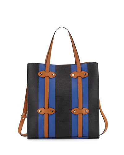 Steamer Faux Leather Tote Bag