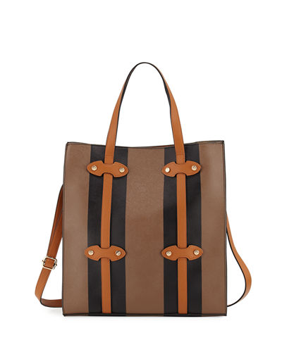 Steamer Faux-Leather Tote Bag