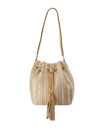 Millicent Squishee® Straw Bucket Bag