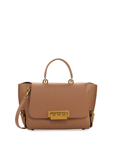 Eartha Gusset Leather Shoulder Bag