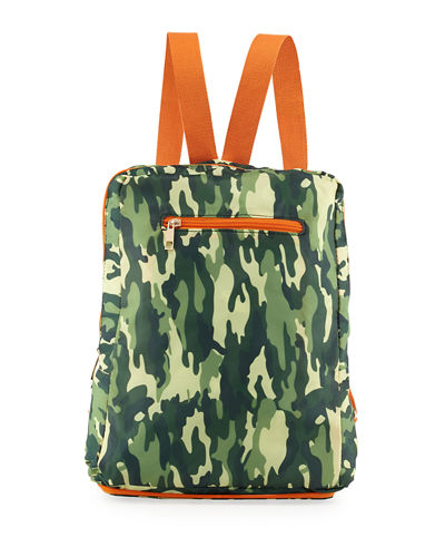 Camo Nylon Packable Backpack