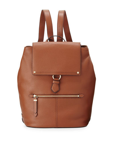 Ilianna Pebbled Leather Backpack