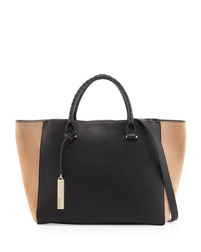 Darla Whipstitch Colorblock Satchel Bag