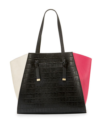 Ingrid Tricolor Faux Tote Bag