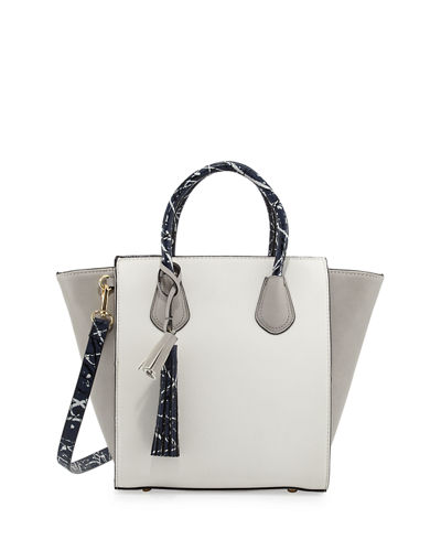 Pop Splatter Colorblock Satchel Bag