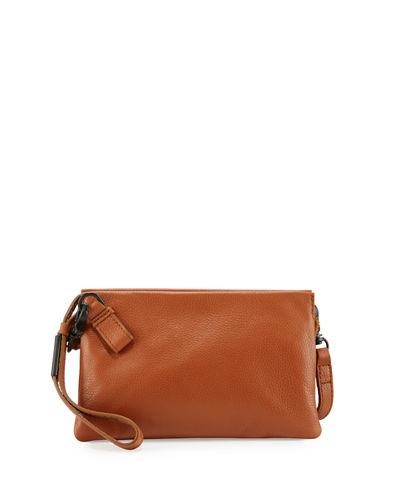 Cache Leather Crossbody Pouch Bag