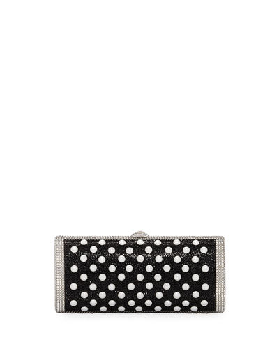 Cylinder Beaded East-West Clutch Bag