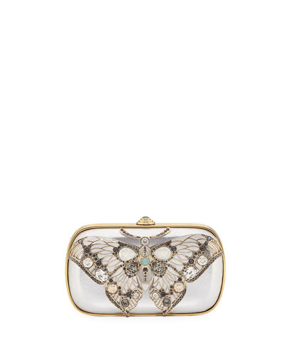 Soft-Sided Rectangle Clutch With Butterfly