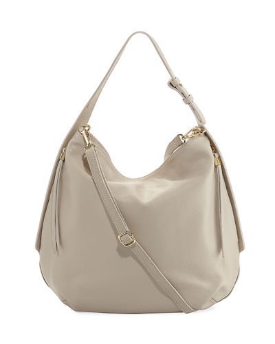 Dollaro Pebbled Leather Hobo Bag