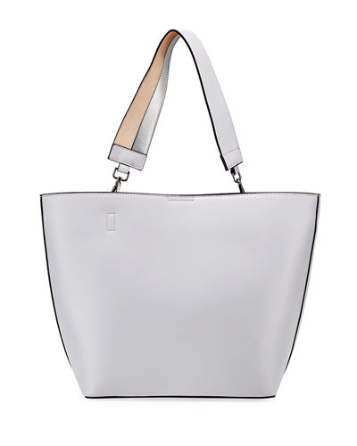 Caroline Smooth Leather Tote Bag