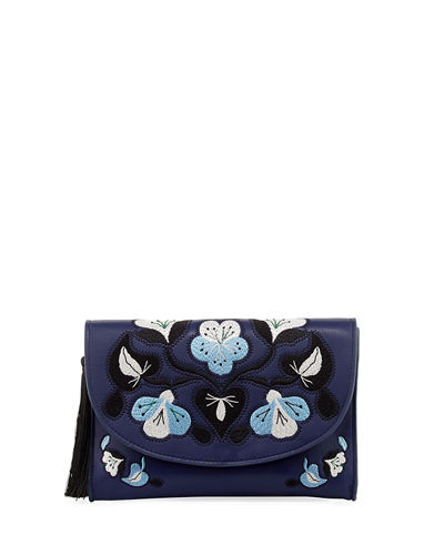 Layla Embroidered Clutch Bag