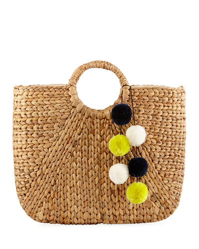 Alyson Large Straw Tote Bag