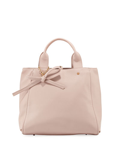 Bow Saffiano Large Satchel Bag