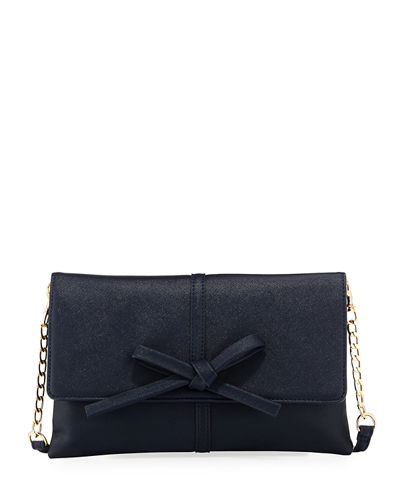 Bow Flap Over Clutch Bag
