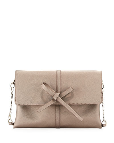 Bow Flap-Over Clutch Bag