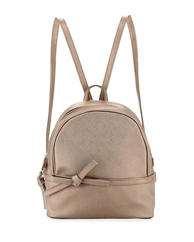 Bow Saffiano Small Backpack