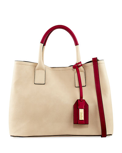 Colorblock Top Handle Satchel Bag