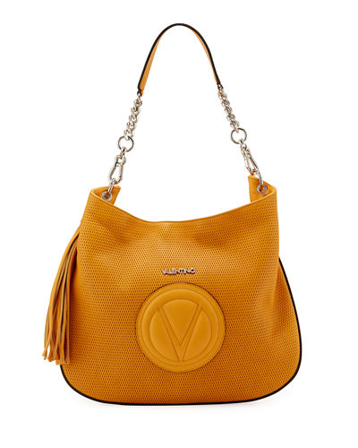 Penny Perforated Leather Hobo Bag