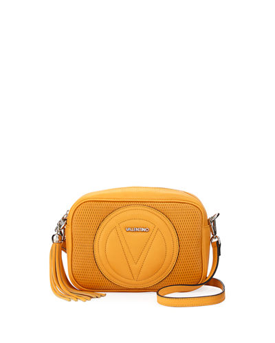 Mia Small Perforated Leather Crossbody Bag