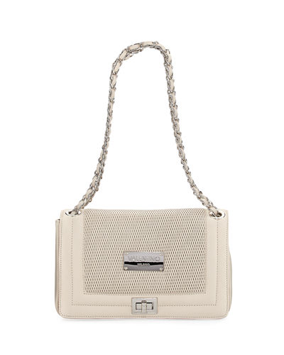 Alice Perforated Leather Chain Shoulder Bag