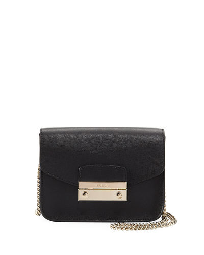 Julia Mini Saffiano Leather Crossbody