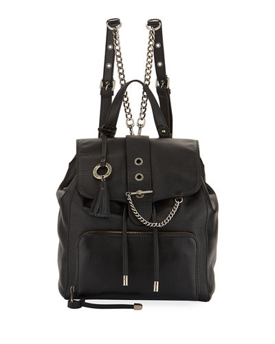Beulah Leather Drawstring Backpack